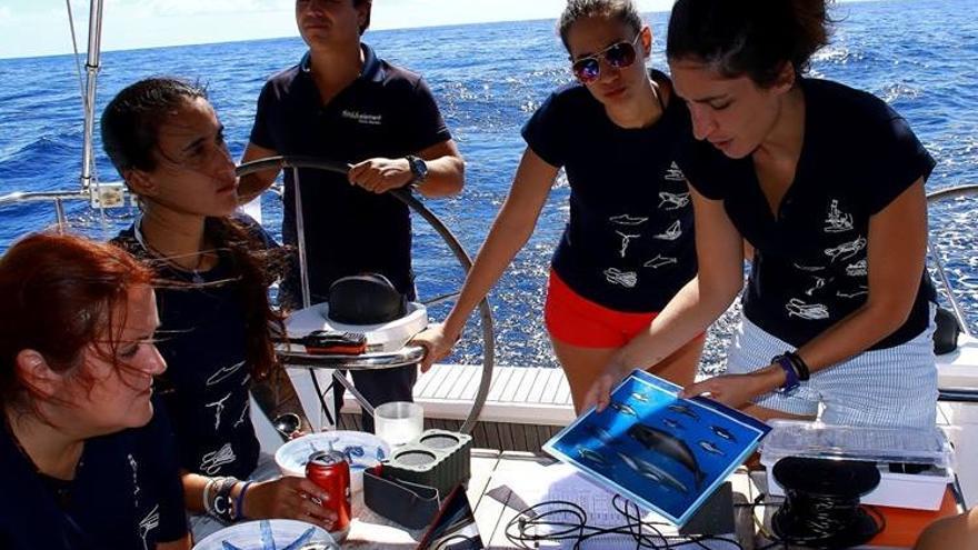 Los viajeros recogen muestras del medio marino para su posterior estudio.