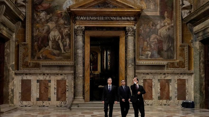 El papa y Blinken conversan en el Vaticano durante 40 minutos