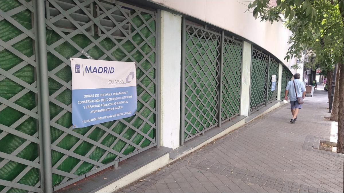 Fachada de la futura sala de estudio de Blasco de Garay, en obras