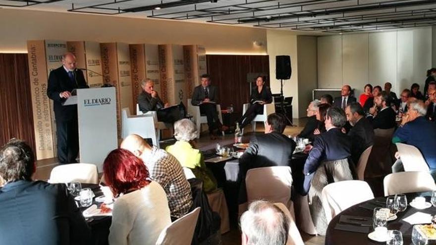 Presentación del informe 'Desarrollo de Cantabria: análisis e instrumentos' el pasado 23 de noviembre en el Hotel Chiqui. | SODERCAN