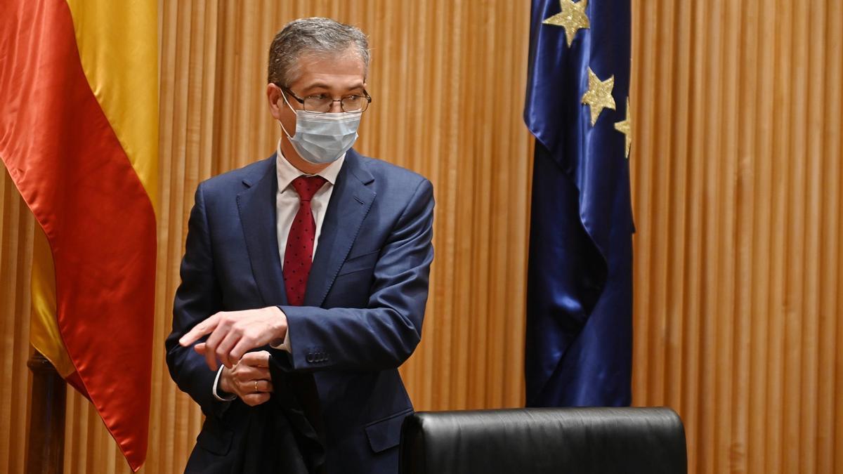 El gobernador del Banco de España, Pablo Hernández de Cos. EFE/ Fernando Villar/Archivo