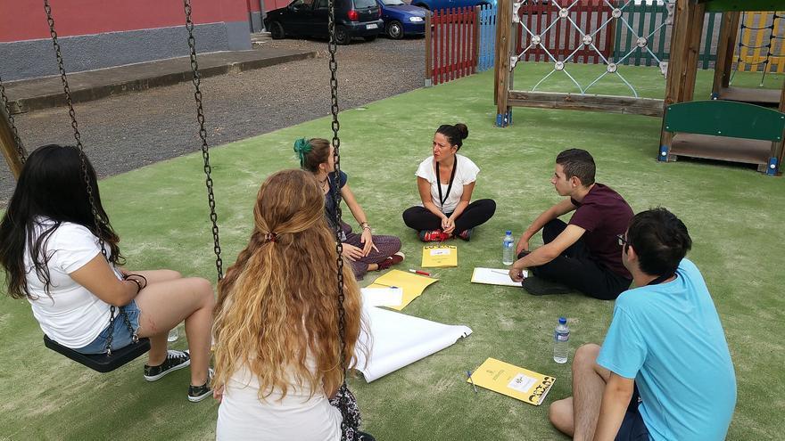 Jóvenes del proyecto 'La Palma Youth Power'.