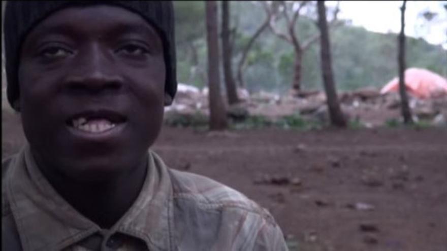 Captura del vídeo de la Asociación Pro.De.In, grabado en el Monte Gurugú de Marruecos