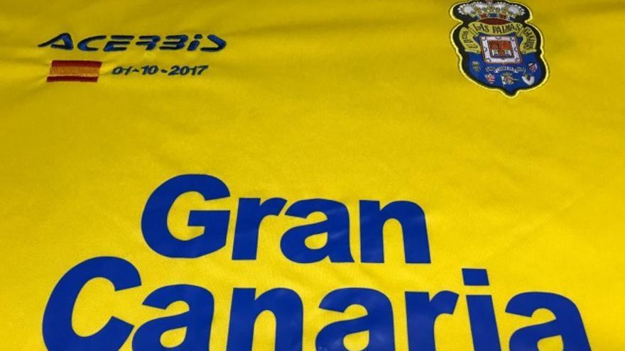 Camiseta con la que jugará la UD Las Palmas