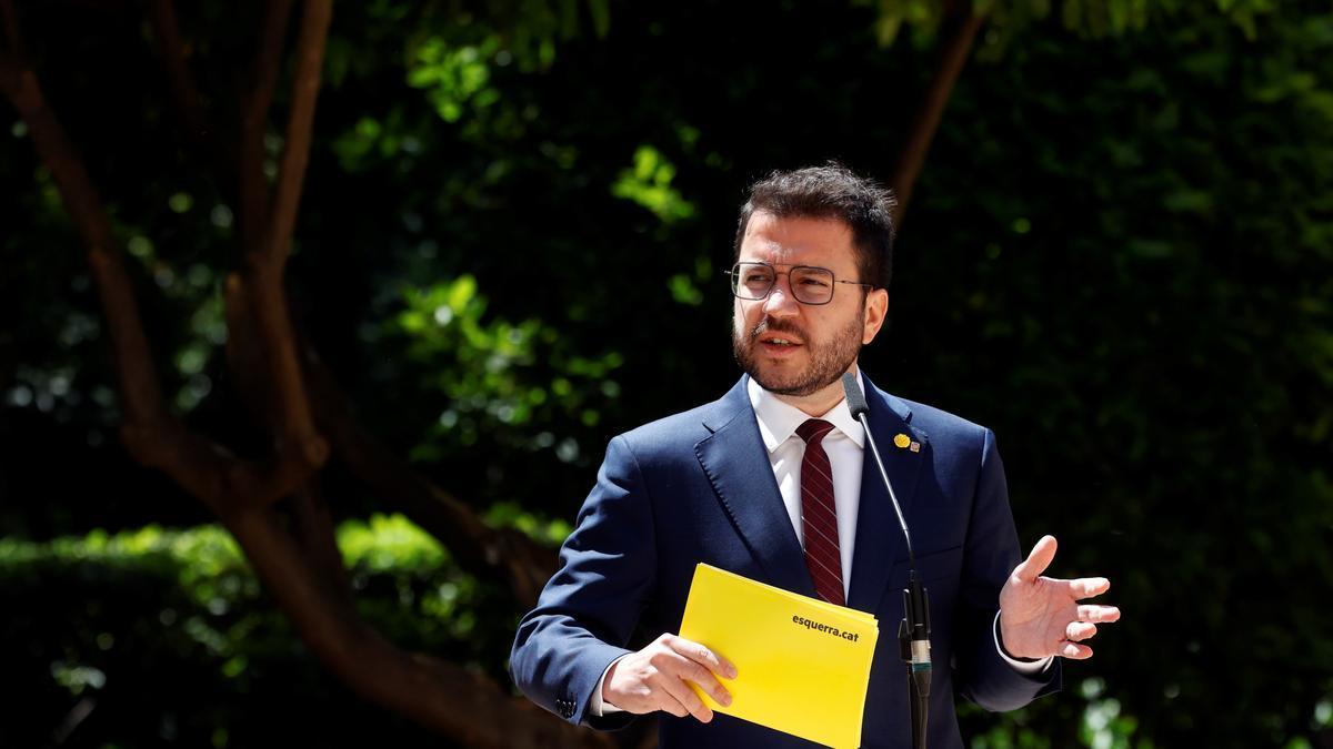 El coordinador nacional de ERC y candidato a la investidura, Pere Aragonès. EFE/Quique García/Archivo