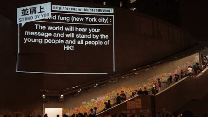Prácticas tecnopoliticas, explosión emocional y conexiones globales en #OccupyHongKong