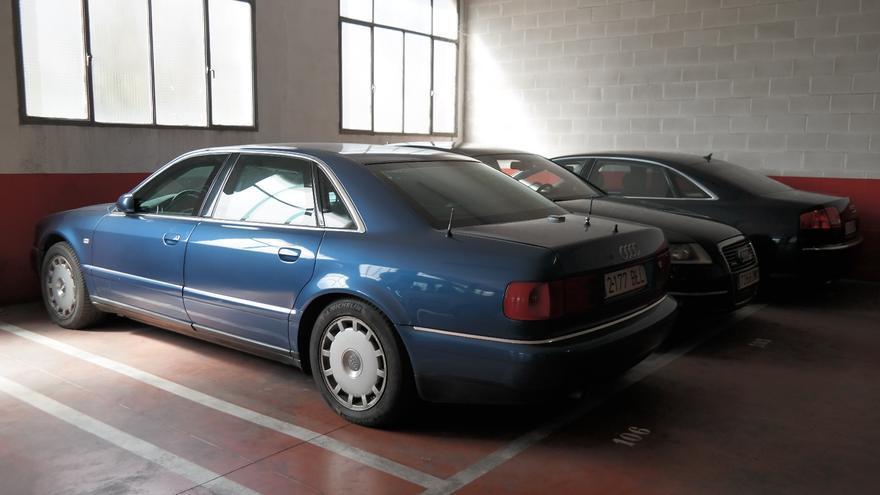El coche oficial blindado de Zaplana que se ha enviado a la chatarra.