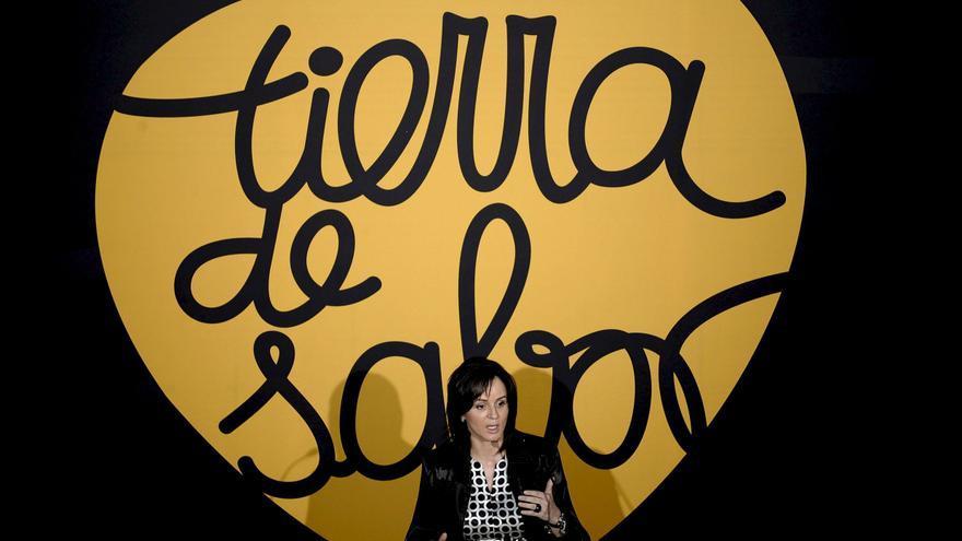 Silvia Clemente durante su etapa de consejera de Agricultura de Castilla y León presentando 'Tierra de Sabor'