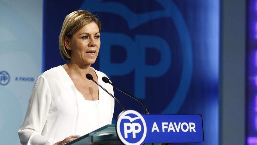 """Cospedal emplaza al PSOE a reflexionar porque los gallegos y vascos han """"castigado el bloqueo institucional"""""""