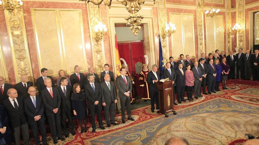 Autoridades del Gobierno y del Estado en la celebración del día de la Constitución.