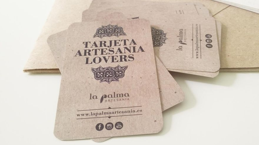 Tarjetas de fidelización 'Artesanía Lovers' de 'La Palma Artesanía'.