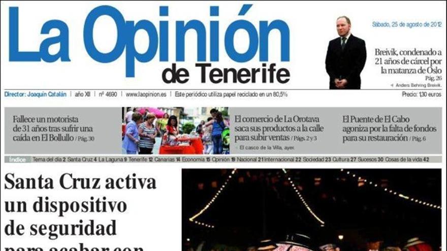 De las portadas del día (25/08/2012) #5