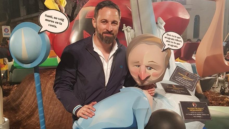 Santiago Abascal, presidente de Vox, visitó este fin de semana las fallas