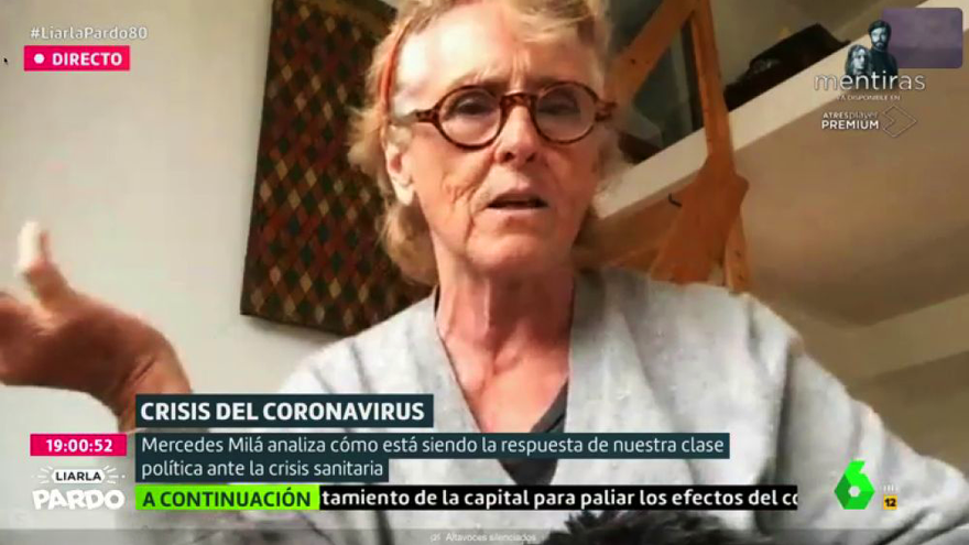 Mercedes Milá, durante su intervención en 'Liarla Pardo'