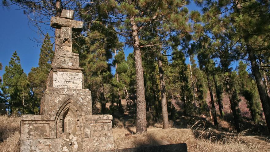 Cruz de los Moriscos, hito del Camino de Santiago en Gran Canaria. VA