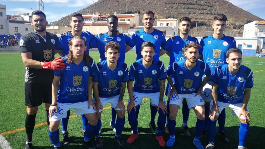 Formación del Marino frente al Tenerife B