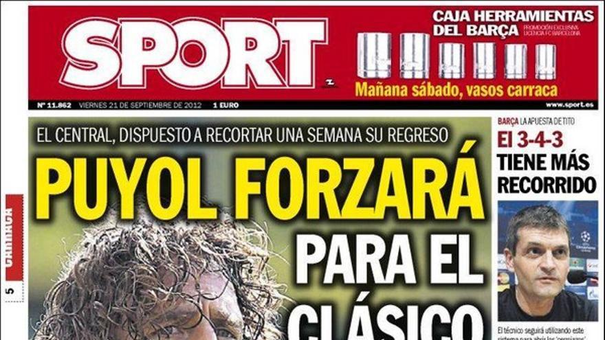 De las portadas del día (21/09/2012) #15