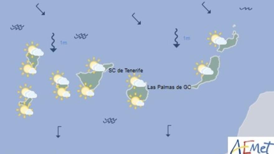 Mapa del tiempo de la Aemet para este lunes, 19 de junio de 2017.