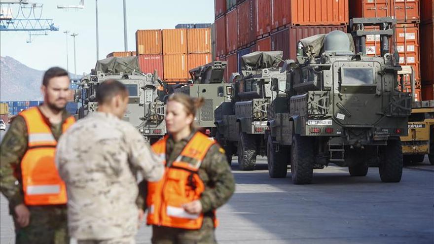 Los últimos vehículos españoles desplegados en Afganistán llegan a España