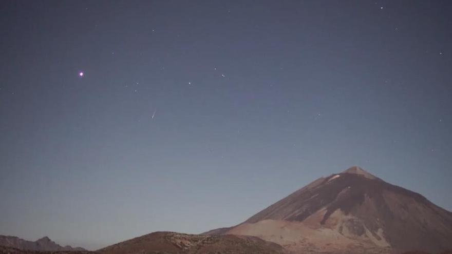 Perseidas vistas desde el Teide