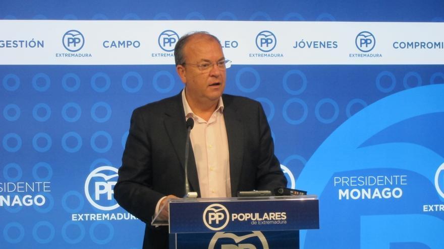 """Monago (PP) no descarta un pacto entre PSOE y Podemos porque ya hay """"un acercamiento en muchas comunidades"""""""