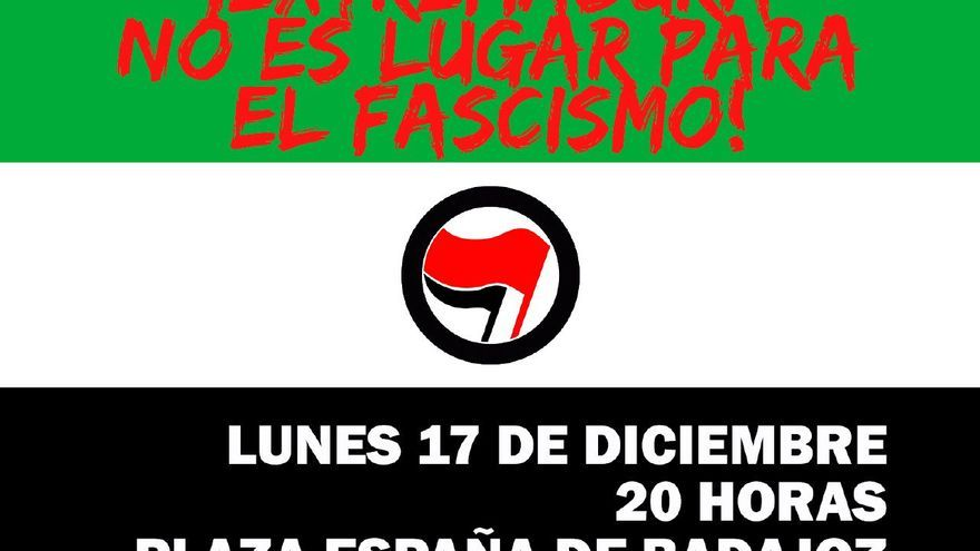 Concentración antifascista Badajoz