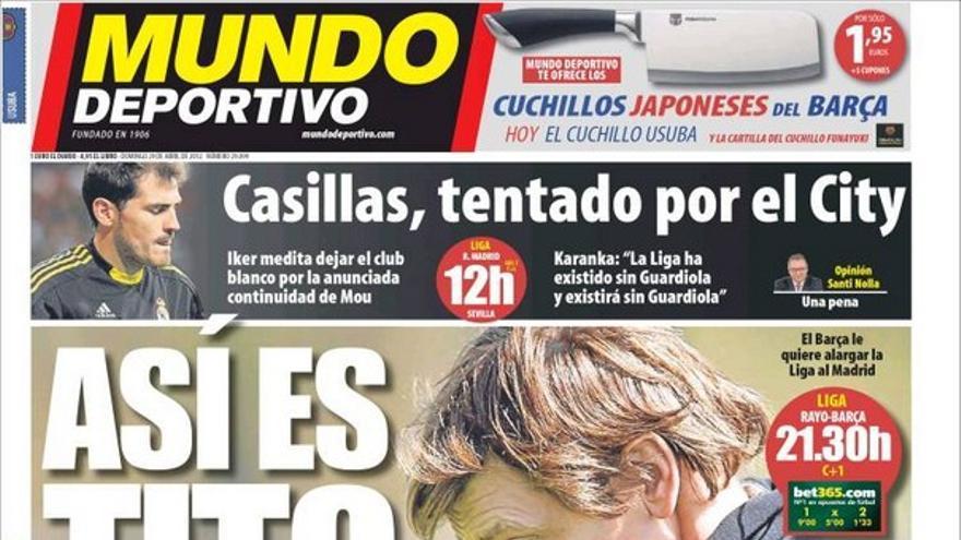De las portadas del día (29/04/2012) #14