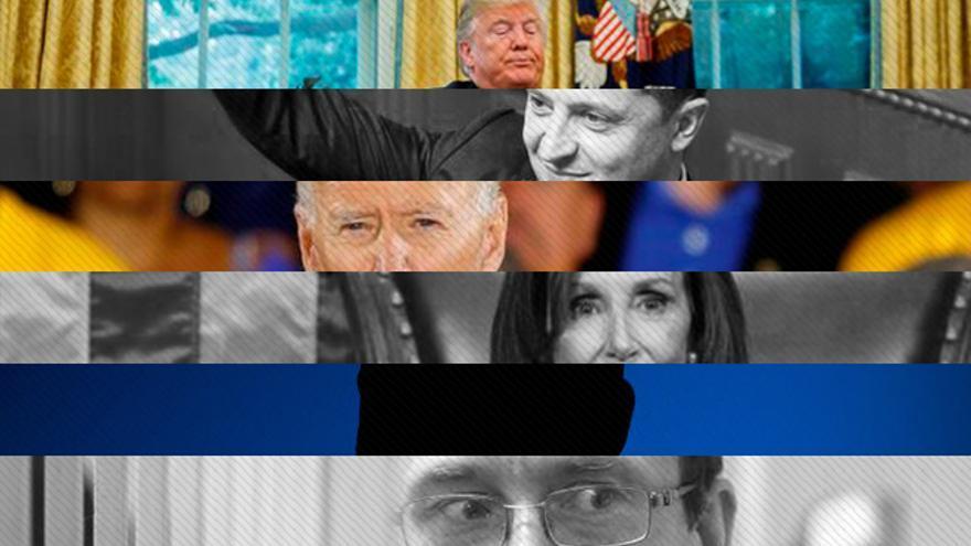 Montaje que muestra a los protagonistas del 'impeachment' contra Trump