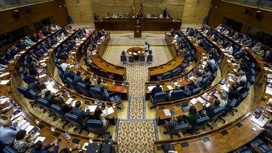 El plenario de la Asamblea de Madrid. / Foto de archivo