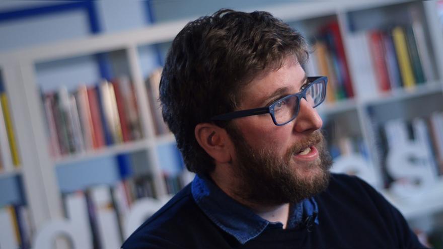Miguel Urbán, durante la entrevista con eldiario.es