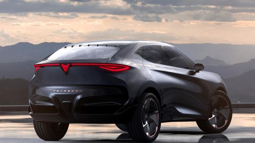 El Cupra Tavascan destaca por una silueta de tipo SUV cupé.