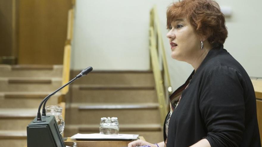 Eva Blanco, en el Parlamento Vasco