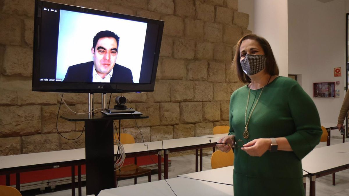 Blanca Torrent con Rafael Amor.