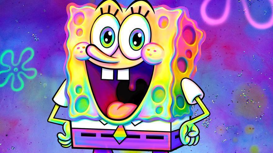 Bob Esponja, en la imagen difundida por Nickelodeon