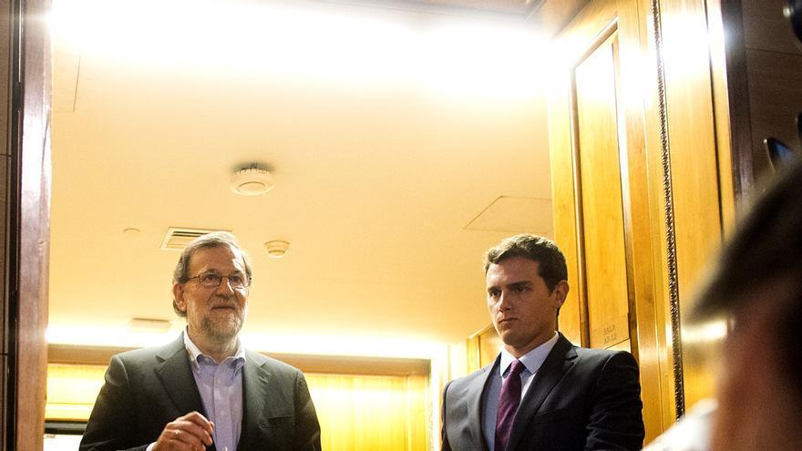 Mariano Rajoy y Albert Rivera durante su encuentro el jueves / Foto: PP.