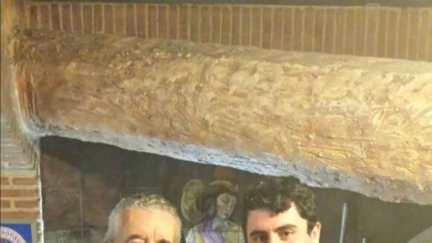 Lorenzo Olarte, nuevo presidente de Ciudadanos de Centro Democrático (izquierda), junto a David García, vicepresidente.