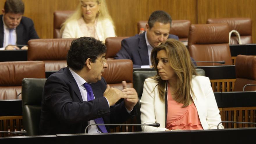 """Díaz expresa su respeto a las decisiones internas de IU-CA y destaca que Valderas es un """"buen"""" vicepresidente andaluz"""
