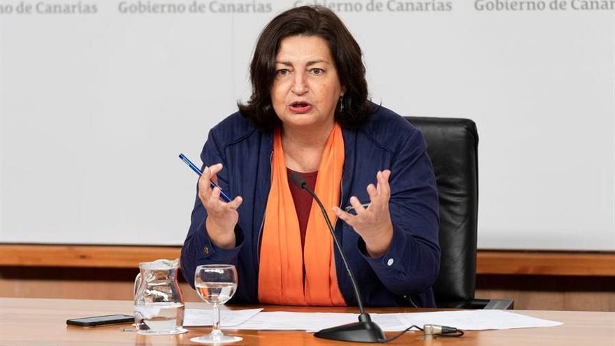 La Consejera de Educación, Universidades, Cultura y Deportes, María José Guerra Palmero.