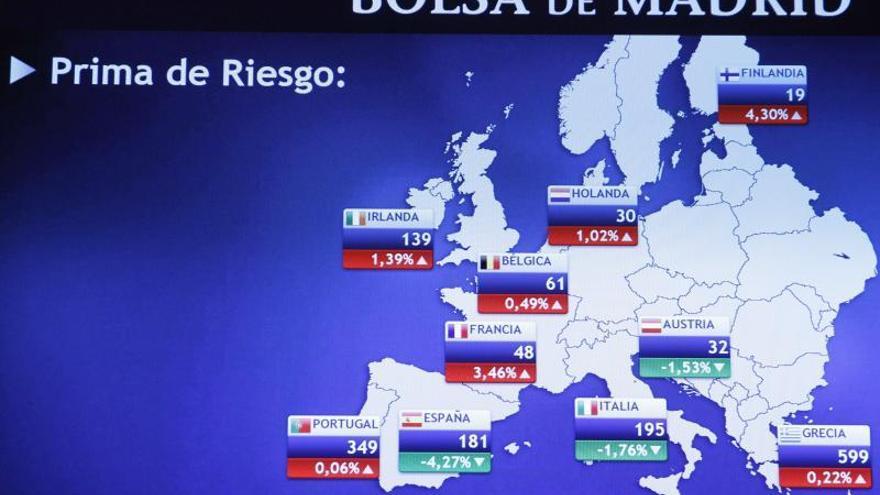 La prima de riesgo de España alcanza los 202 puntos básicos en la apertura