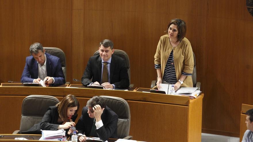 En la fila superior, diputados de Ciudadanos en las Cortes de Aragón.