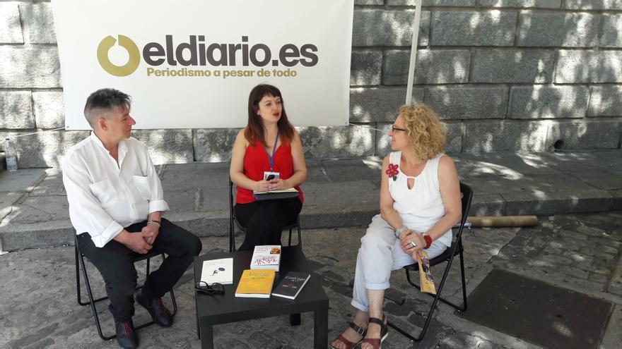 Los editores Antonio Huerga y Charo Fierro en el set de eldiario.es Castilla-La Mancha
