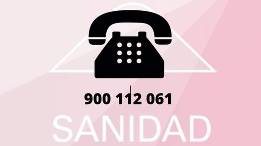 Teléfono de información sobre el coronavirus del Gobierno de Canarias.