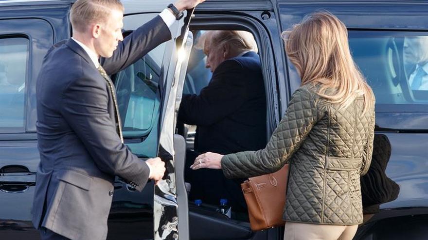 Trump llega a Escocia para una visita privada de dos días a su campo de golf