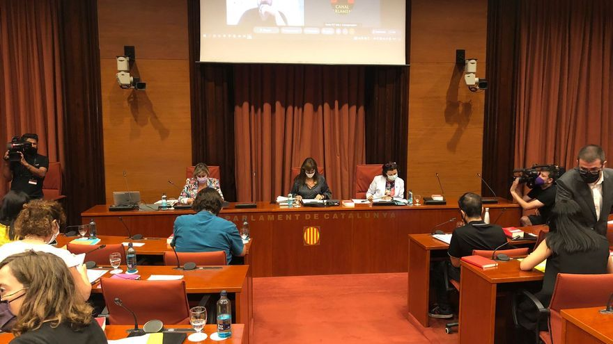 Reunión de la Junta de Portavoces del Parlament de Catalunya, a 13 de julio de 2021, en Barcelona.