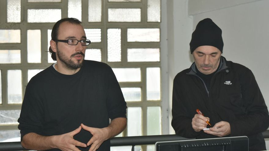 Javi Vazquez y Fernando Lobato, fundadores del colectivo.   ASOCIACIÓN SOSTERRA