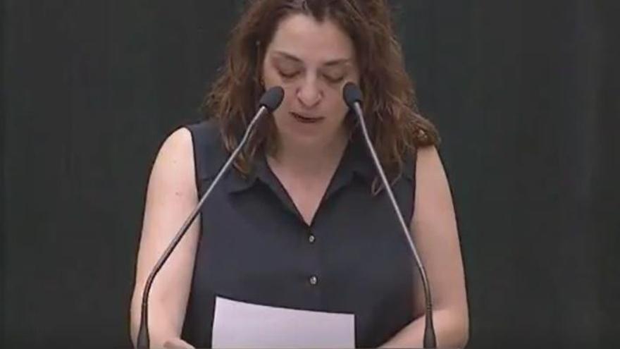 Celia Mayer leyendo la carta de la víctima de 'la manada'