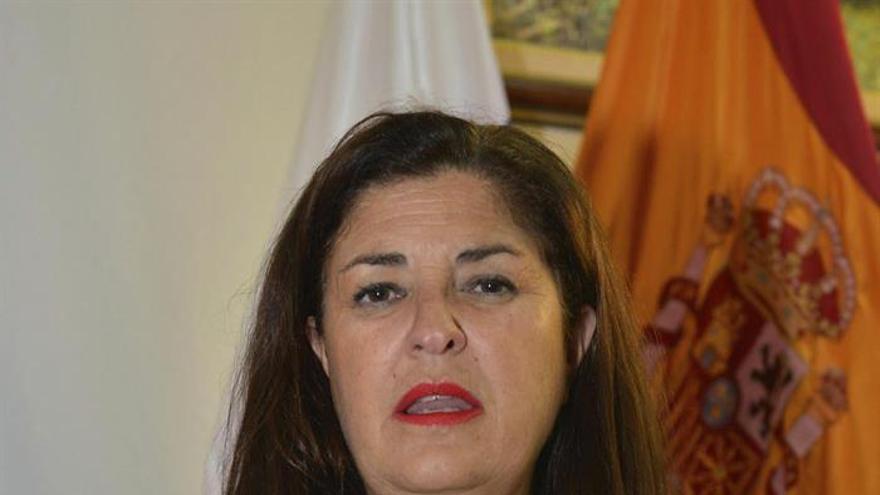 La Presidenta del Cabildo de El Hierro y Parlamentaria Regional, Belén Allende (EFE/Gelmert Finol).