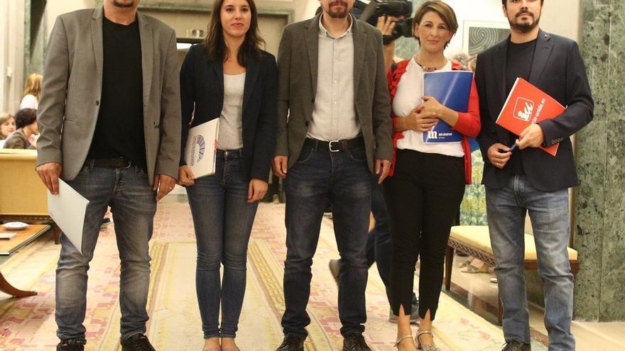 """Unidos Podemos deja """"en suspenso"""" su participación en la nueva comisión del Congreso sobre la reforma territorial"""