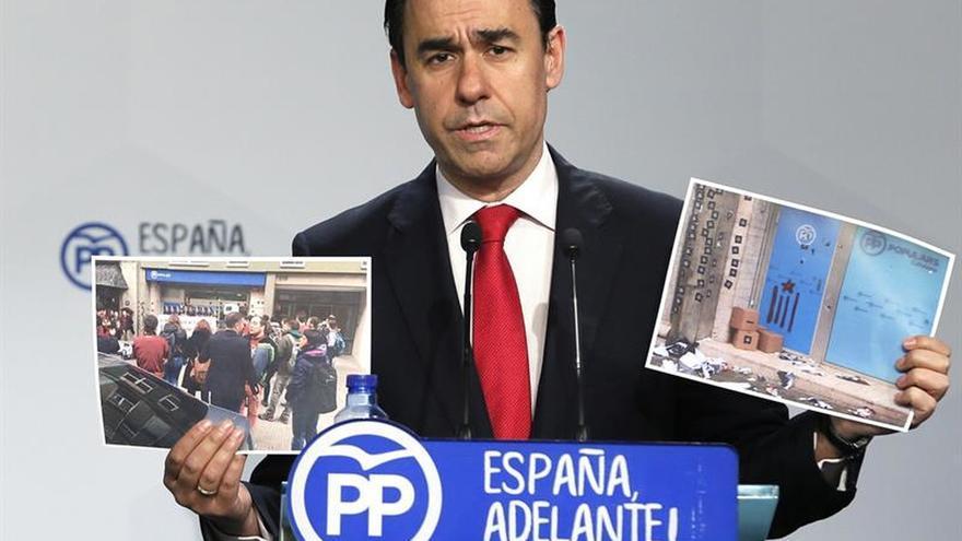 Maillo espera una respuesta de todos los partidos al ataque a la sede del PPC