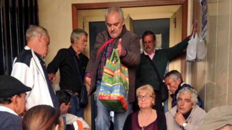 Las colas en el comedor social de Badajoz